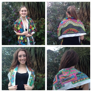 Collage of Wrap Scarves